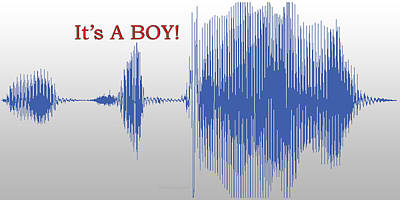 Audio Art It's A Boy Poster by Thomas Woolworth