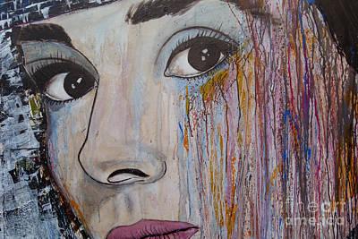 Audrey Hepburn-abstract 2 Poster