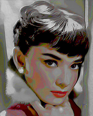 Audrey Hepburn Poster by  Fli Art