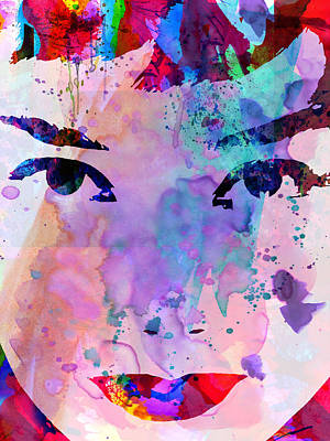 Audrey Watercolor Poster by Naxart Studio