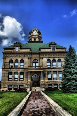 Auglaize County Courthouse In Ohio Poster by Dan Sproul