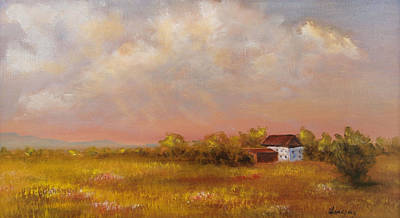Poster featuring the painting August Afternoon Pa by Katalin Luczay
