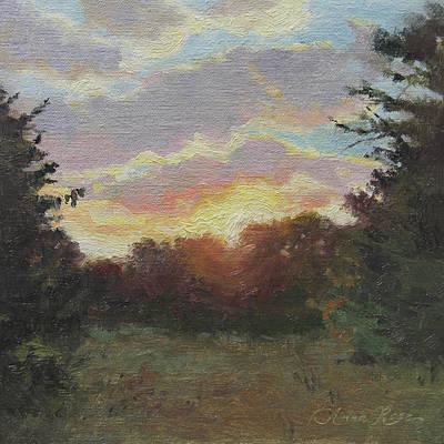 August Sunrise Plein Air Poster