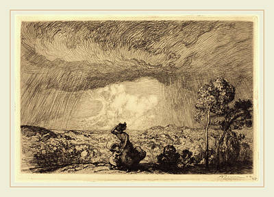 Auguste Lepère, Storm On The Dune, Vendee Lorage Sur La Poster by Litz Collection