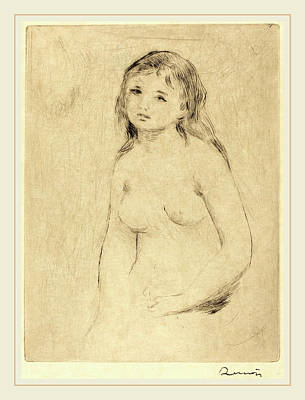 Auguste Renoir, Study For A Bather Etude Pour Une Baigneuse Poster by Litz Collection