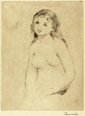 Auguste Renoir, Study For A Bather Etude Pour Une Baigneuse Poster by Quint Lox