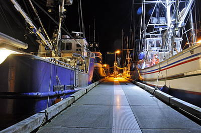 Poster featuring the photograph Auke Bay By Night by Cathy Mahnke