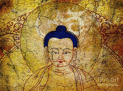 Aum Buddha Poster by Tim Gainey
