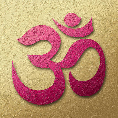 Aum Or Om Symbol Poster by Cristina-Velina Ion