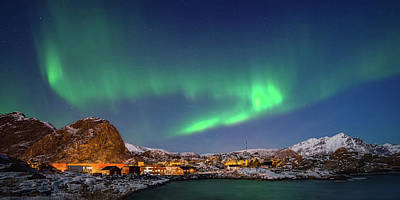 Aurora Borealis Above Stamsund Poster by Panoramic Images