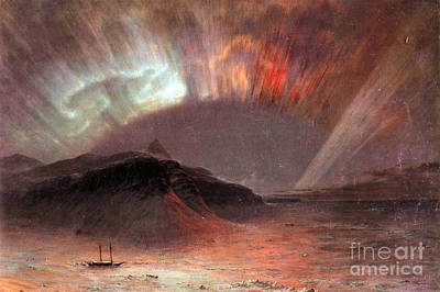 Aurora Borealis By Frederick Edwin Church Poster