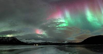 Aurora Borealis During Geomagnetic Storm Poster by Tommy Eliassen