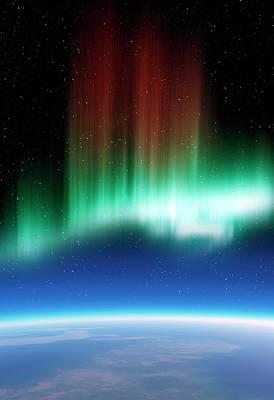 Aurora Borealis In The Night Sky Poster by Detlev Van Ravenswaay