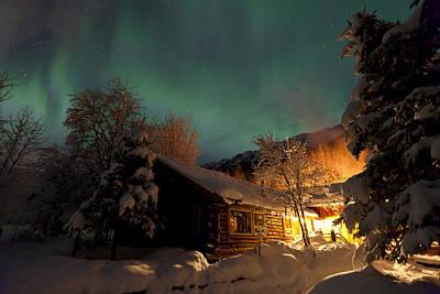 Aurora Borealis Northern Lights Over Poster