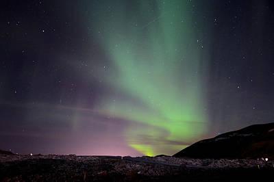 Aurora Borealis Over Iceland Poster