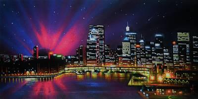 Aurora Borealis Over Quebec Poster