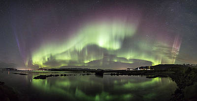 Aurora Borealis Panorama Poster by Frank Olsen