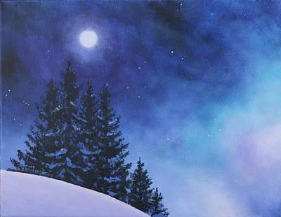 Aurora Borealis Winter Poster by Cecilia Brendel