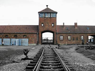Auschwitz II Birkenau Poster by Kelly Schutz