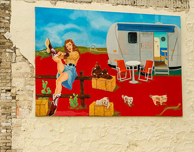 Austin - Camping Mural Poster by Allen Sheffield