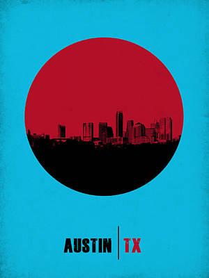 Austin Circle Poster 1 Poster by Naxart Studio