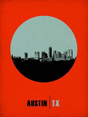 Austin Circle Poster 2 Poster by Naxart Studio