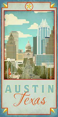 Austin Congress Avenue Poster by Jim Sanders