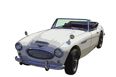Austin Healey 300 Classic Convertible Sportscar  Poster by Keith Webber Jr