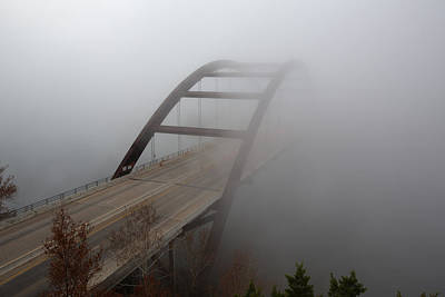 Austin Images - Pennybacker Bridge In Morning Fog 7 Poster