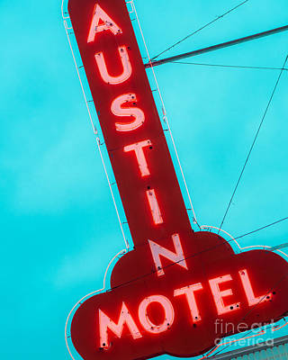Austin Motel Sign Poster by Sonja Quintero
