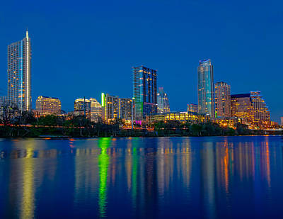 Poster featuring the photograph Austin Skyline by Tim Stanley