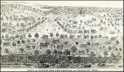 Austin Texas New Capital 1844 Poster