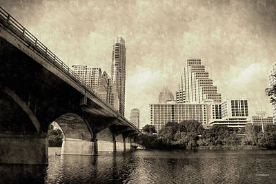 Austin Texas Vintage Poster by Sarah Broadmeadow-Thomas