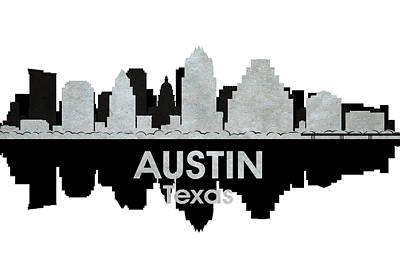 Austin Tx 4 Poster by Angelina Vick