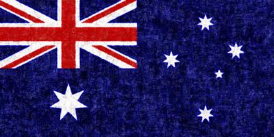 Australia Flag Batik Poster