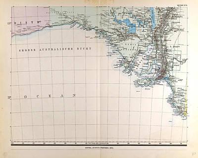 Australia Gotha Justus Perthes 1872 Atlas Poster by Australian School
