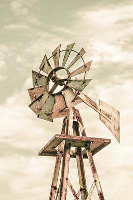 Australian Aermotor Windmill Poster by Jorgo Photography - Wall Art Gallery