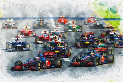 Australian Grand Prix F1 2012 Poster