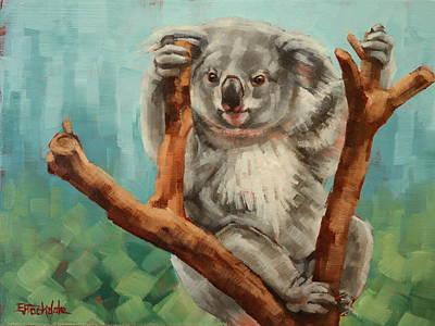Australian Koala Poster by Margaret Stockdale