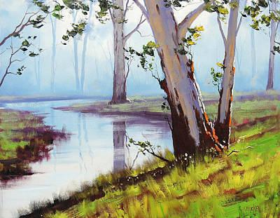 Australian Trees Painting Poster by Graham Gercken