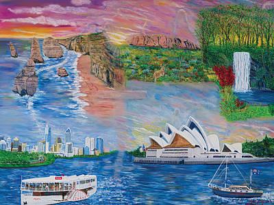 Australian Visitation Poster by Mike De Lorenzo