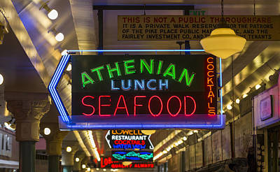 Authentic Lunch Seafood Poster