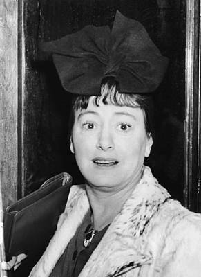 Author Dorothy Parker Poster by Underwood Archives
