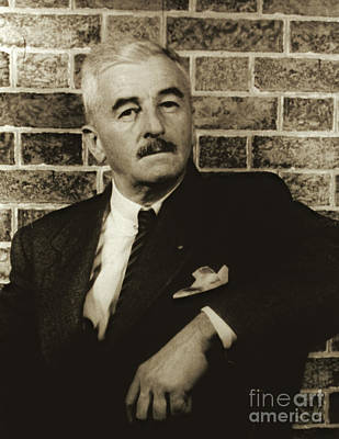 Author William Faulkner 1954 Poster by Padre Art