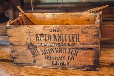 Auto Knitter Box Poster by Paul Freidlund