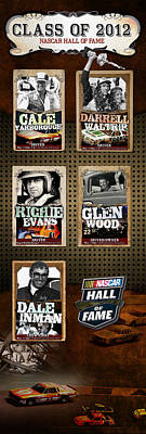 Auto Racing Hall Of Fame 2012 Poster by Retro Images Archive