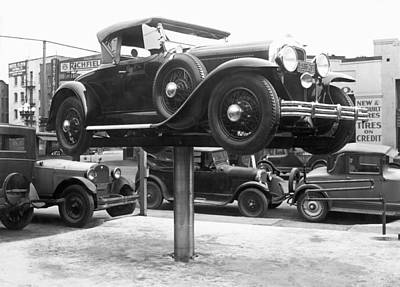 Auto Repair Shop Lift Poster
