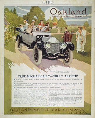 Automobile Ad, 1913 Poster by Granger