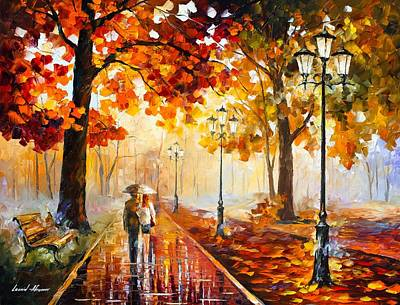 Autumn Love Poster by Leonid Afremov
