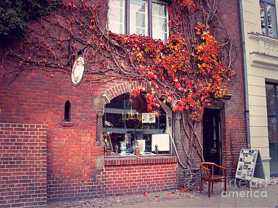 Poster featuring the photograph Autumal Facade With Ivy Autumn by Art Photography
